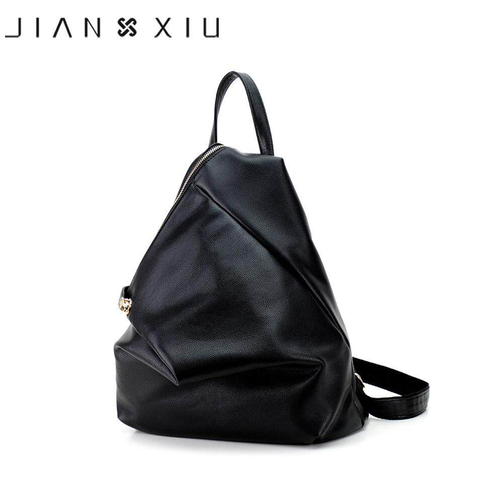 acbf6e98c9 JIANXIU Brand Fashion Backpack Mochila Feminina Women Bag Pu Leather  Backpacks Travel Multifunctional 2017 Solid Color