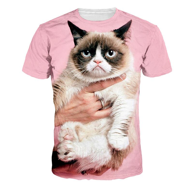 Jiayiqi Cute Pet Mini Cat T-shirt Short Sleeve Tops for Workout - intl