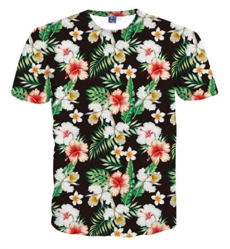 Jiayiqi Men's Fashion 3D Print T-shirt Summer Sport Short Sleeve Tee Shirts - intl