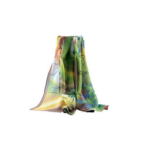 Jocelyn Nord Jocelyn Nord Womens Genuine Silk Long Scarf 100% Mulberry Silk - intl