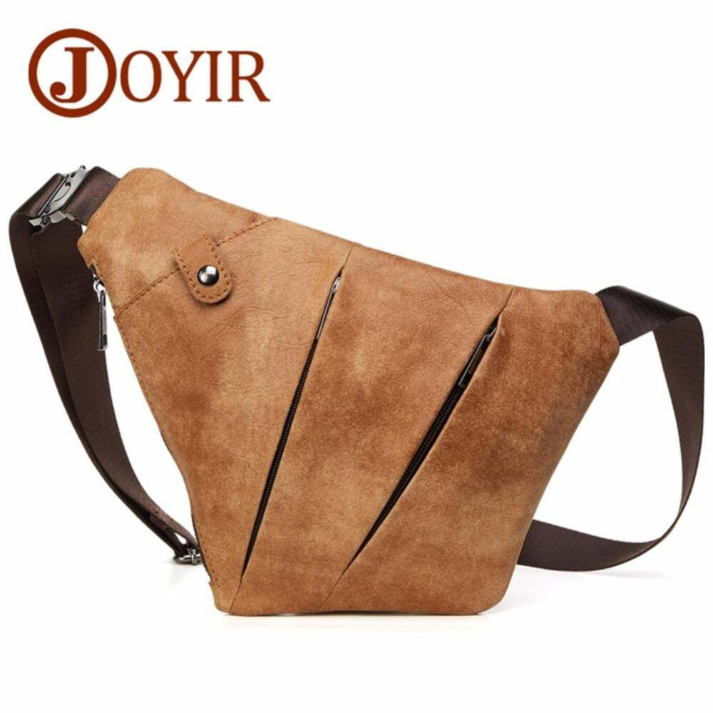 d39819a7d60 JOYIR New Genuine Leather Chest Bag for Men Crossbody Men s Large Casual  Shoulder Bag Sling