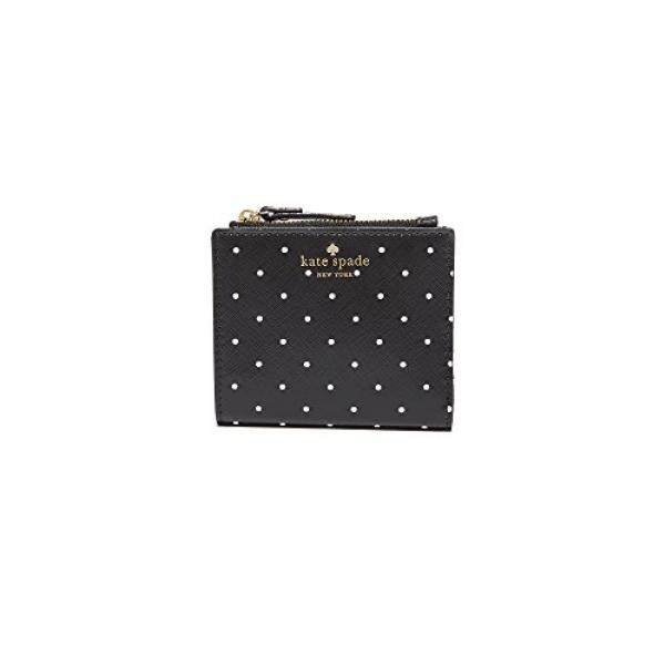 Discount Kate Spade New York Womens Brooks Drive Adalyn Wallet Black Cream One Size Intl Kate Spade New York