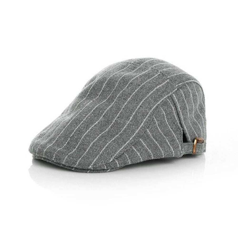 Kids Baby Boy Girls Stripe Beret Gatsby GREY Cabbie Cap Newsboy Golf  Driving Hat Flat 4c03c3a3b