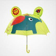 Kids Long Handle Umbrella Toddler Rain Umbrella With 3d Cartoon Animal Ears -Elephant By Qichengshop.