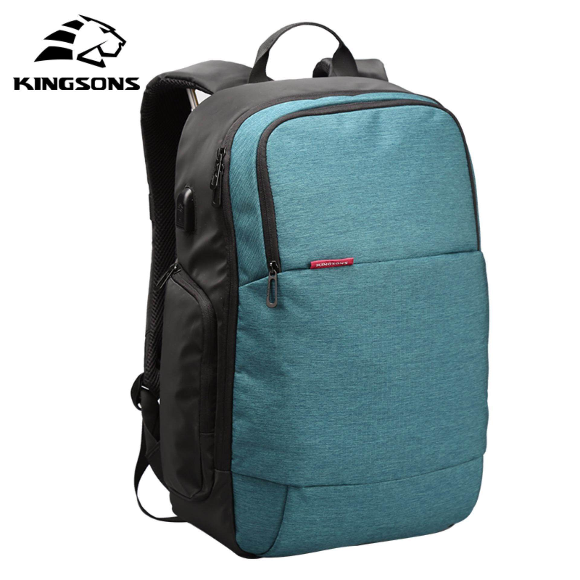 09800aad3f85 Kingsons External USB Charge Laptop Backpack Anti-theft Notebook Computer  Bag 15.6 inch for Business
