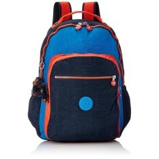 Kipling Seoul Up Backpack Unisex Nylon Rucksack Large Size (Blue Orange  K21305 J24) f12ff3e000