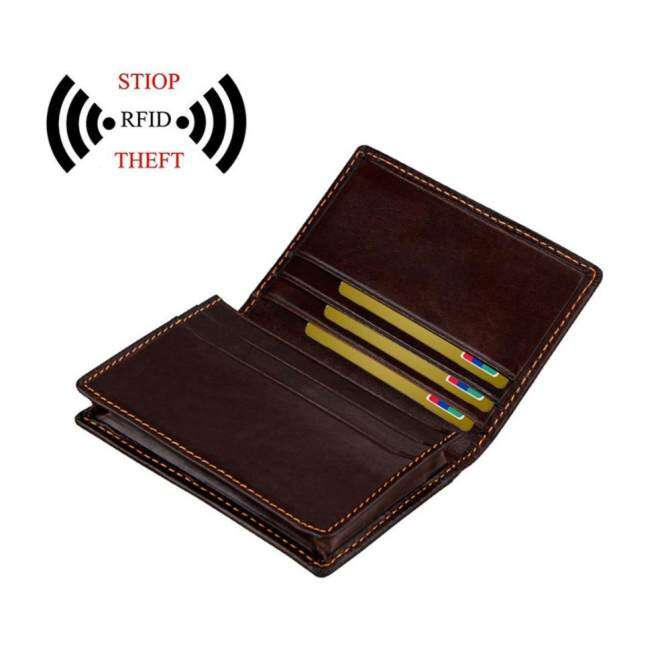 6df4d4426769ef Kobwa Slim Wallet, Front Pocket Wallet, Minimalist Wallet, RFID Blocking  Wallet Genuine Leather,Credit Card Holder ID Card Driver's License Safe -  intl