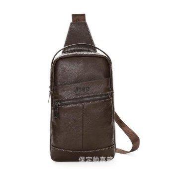 Korean Camel Crossbody Bag Men s Chest Handbag Leisure Satchel Shoulder Bag  Outdoor Sports Bag (Coffee 25586309a8b67