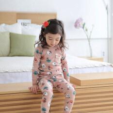 Children Home Service Korean Style New Style Girls Pure Cotton Underwear Suit Spring And Autumn Kids