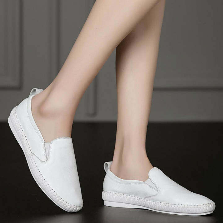 Gentlemen/Ladies~Korean White Shoes Shoes Shoes Leather 2017 Summer New Fla Studen Tide Loafer Shoes ~Attractive And Durable 763151
