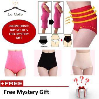 La Belle 5Pcs Seamless High Waist Flatten Tummy and Hips Lifting Panties  Mix Color (Free ... 844707bbc0