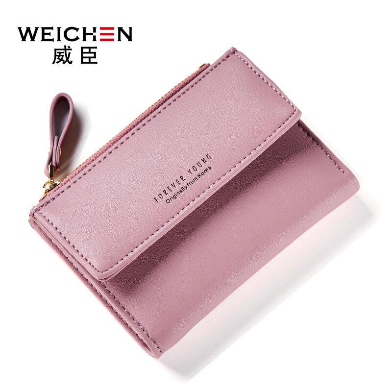 Lady Short Section Two Folded Crocodile Pattern Woman Handbag Wallet - intl
