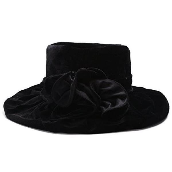 Lawliet Wanita Kentucky Derby Formal Topi Gaun untuk Pergi Ke Gereja  Pernikahan Topi Velvet A389 ( 8ded1223c5