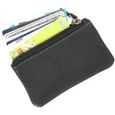 5ec034e17b2c Leather Coin Purse Change Wallet Card Case Small Zip Bag For Men Women  (Black)