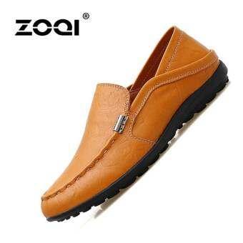 รองเท้าหนังผู้ชาย Zoqi รองเท้าลำลองของผู้ชายรองเท้าคัทชูรองเท้า-
