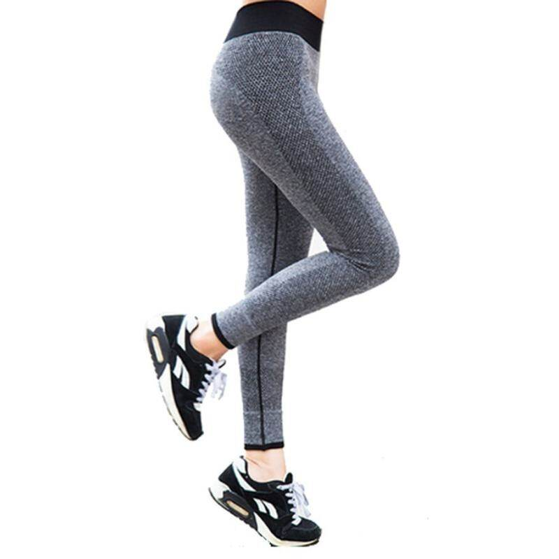 Gym Exercise Sports Pants Trousers For Ladies Yoga Fitness Running(gray) By Shenzhen City Fanfanyun Intelligent Technology Co Ltd.