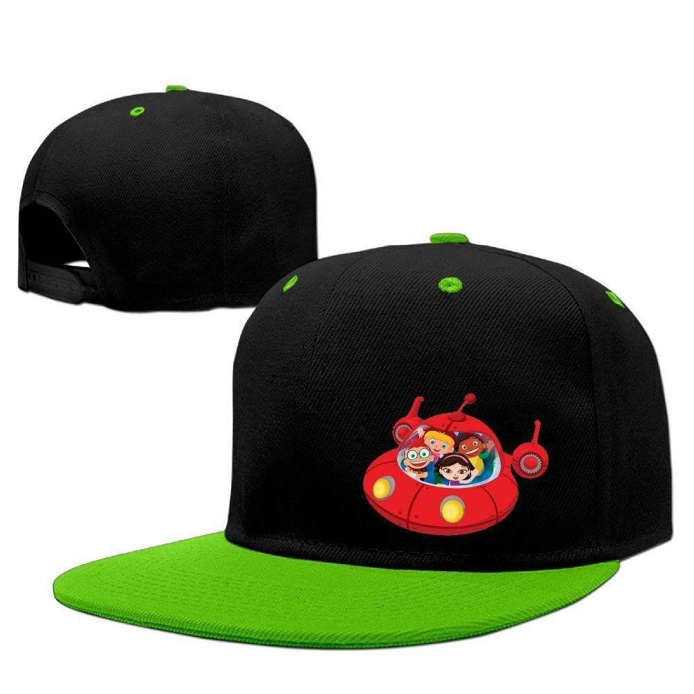 7b91295dfbdf9 Little Einsteins Rocket Hip Hop Baseball Caps Breathable Flat Bill Plain  Snapback Hats Red - intl