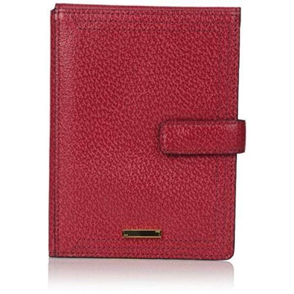 LODiS Stephanie RFID Di Bawah Kunci dan Gembok Dompet Paspor dengan Tiket Flap Berlalu Tas Merah, Satu Ukuran-Intl