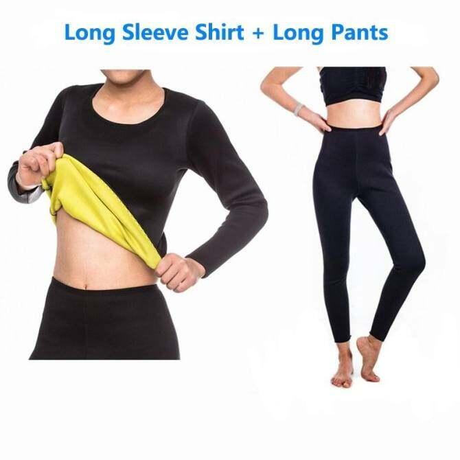 439b9052fa PHP 1.562 (Long Pants+Long Sleeve shirt) Women Neoprene Hot Shapers tight  fitness Sweat Slimming Vest Body Shaper ...
