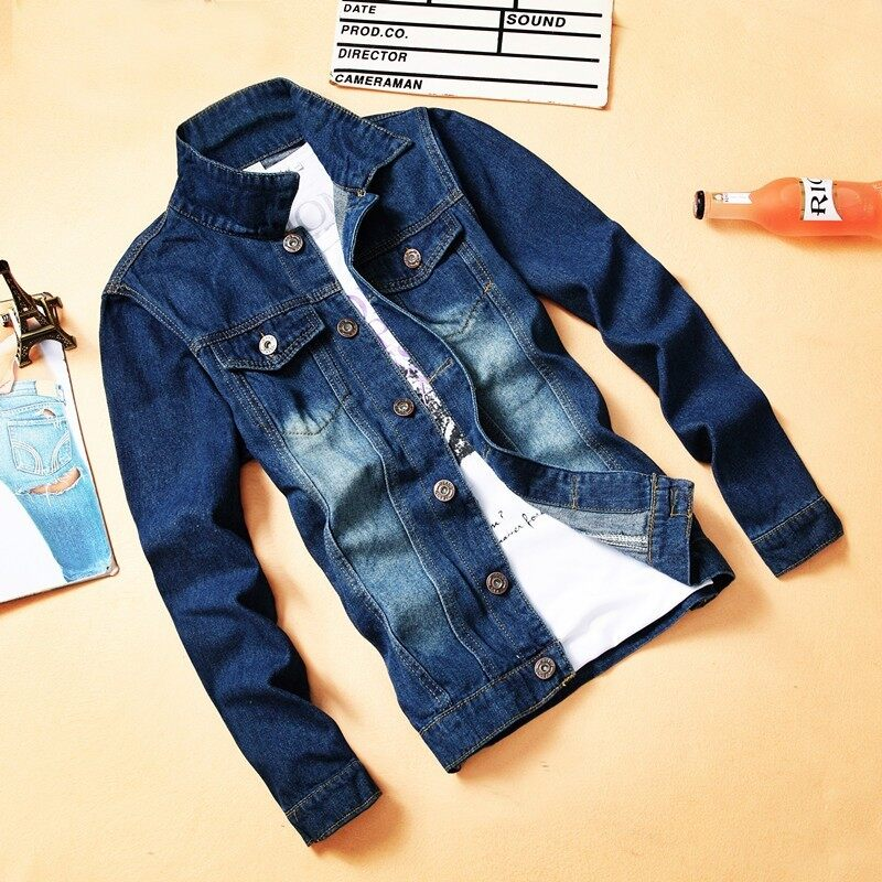 Mens Retro Ripped Denim Jacket (double With Pockets Jacket) (double With Pockets Jacket) By Ygl Fashion.