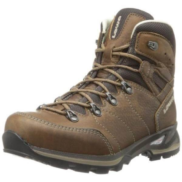 Sepatu Lowa Lowa Wanita Hudson Kulit Lined Pertengahan Daki Gunung Boot, Taupe, AS-Internasional