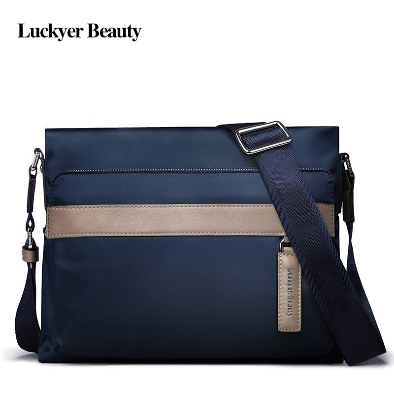 1d342b6d LUCKYER BEAUTY High Quality Men Crossbody Bags School Nylon Bags Male  Casual Style Men Travel Shoulder Bags 2017 New Design