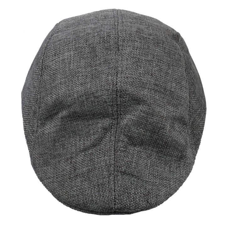MagiDeal Phenovo Linen Beret Cabbie Gatsby Newsboy Flat Cap Duckbill Ivy Hat  Gray d14960905fd