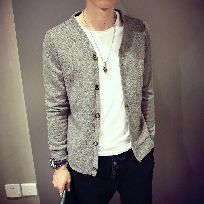 Man Cardigan Good Qualit Knitwear Solid Color Autumn Spring Winter Knit Single Breasted Buttons Slim Long Sleeve Fashion Men Sweater By Ygl Fashion.