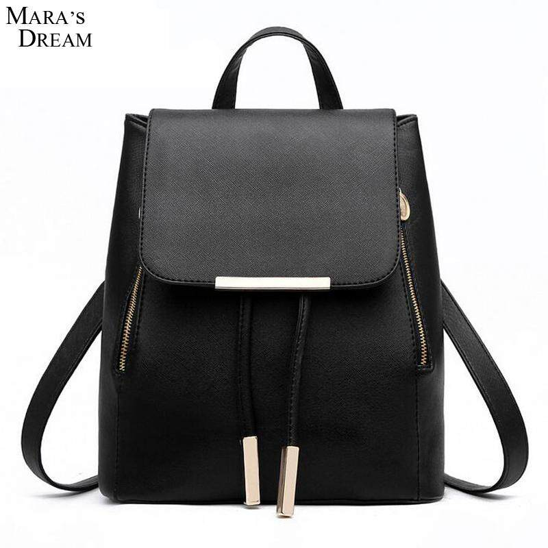 2a377556b4fa Maras Dream Women Backpack High Quality PU Leather Mochila Escolar School  Bags For Teenagers Girls Top