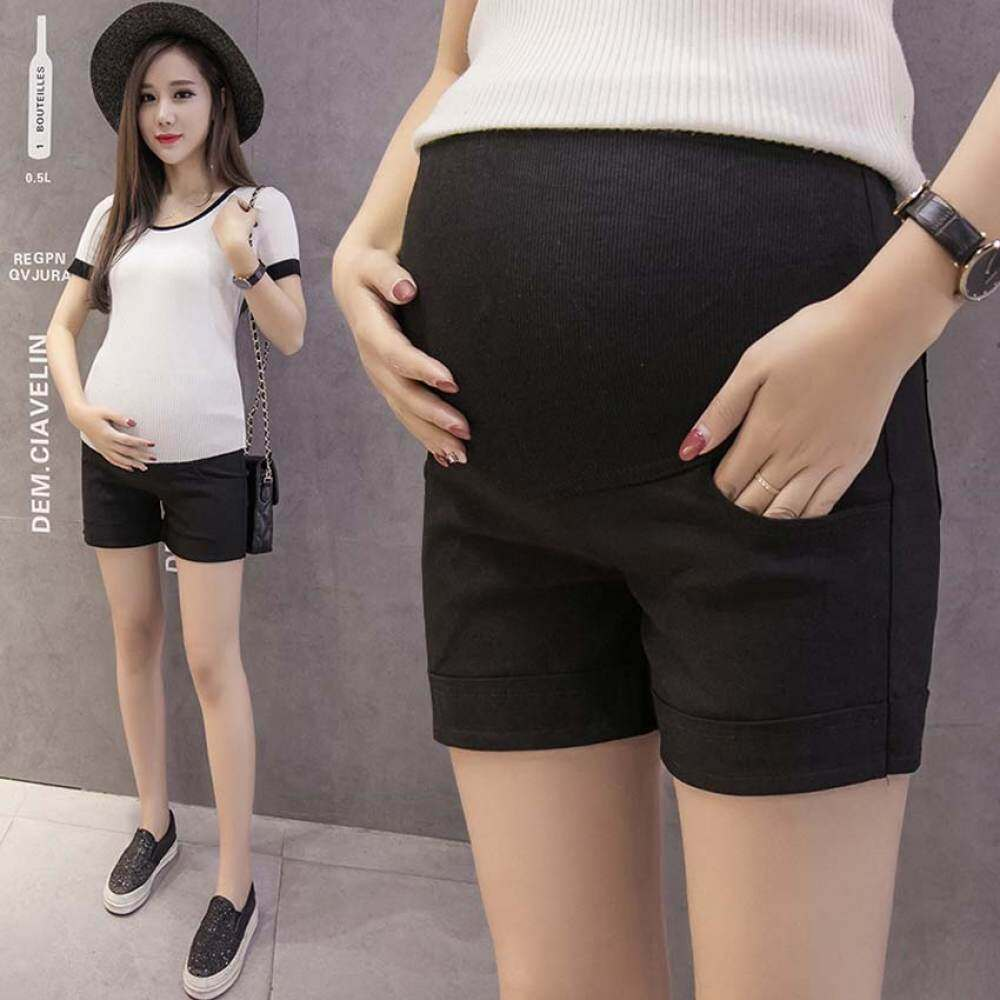 HSGA16RS Bersalin Kapas Celana Pendek Musim Panas untuk Wanita Hamil Plus Celana Pendek Perut Pakaian Katun