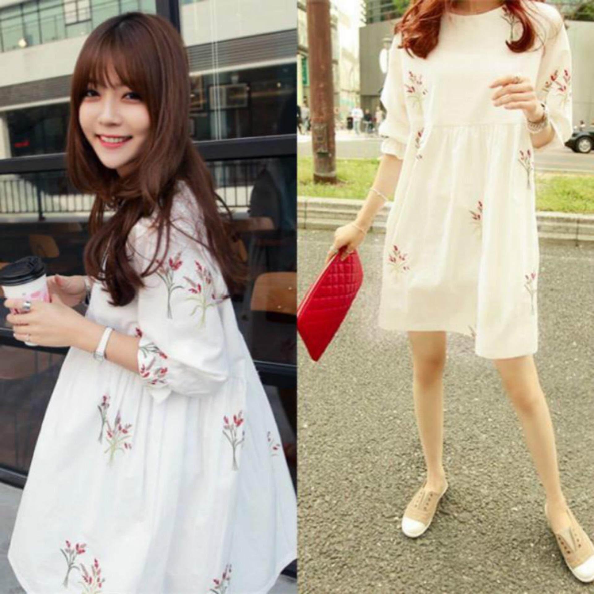 923746c803b43 China. Maternity Dresses Short Sleeve Loose Pregnant Women Pregnancy  Clothing - intl