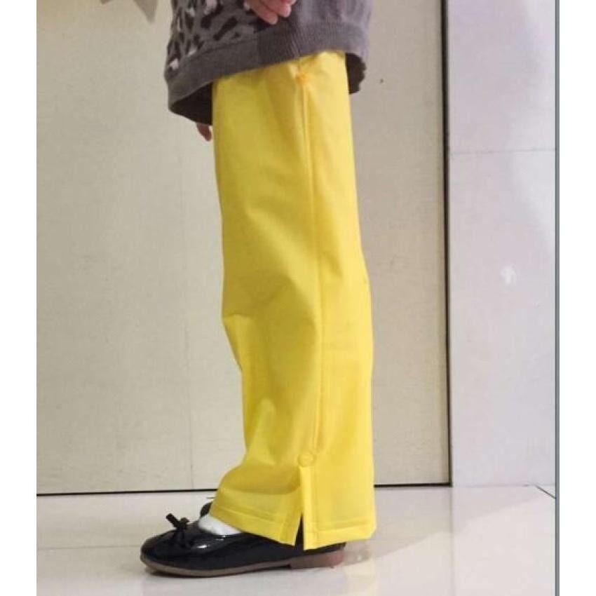 May_zz Girlchild Mahasiswa Kecil Jas Hujan Anak Hujan Bootssetsanti-Hit Basah Kaki Se Childrenpan Se Hujan Pan Setmen (Kuning) -Intl