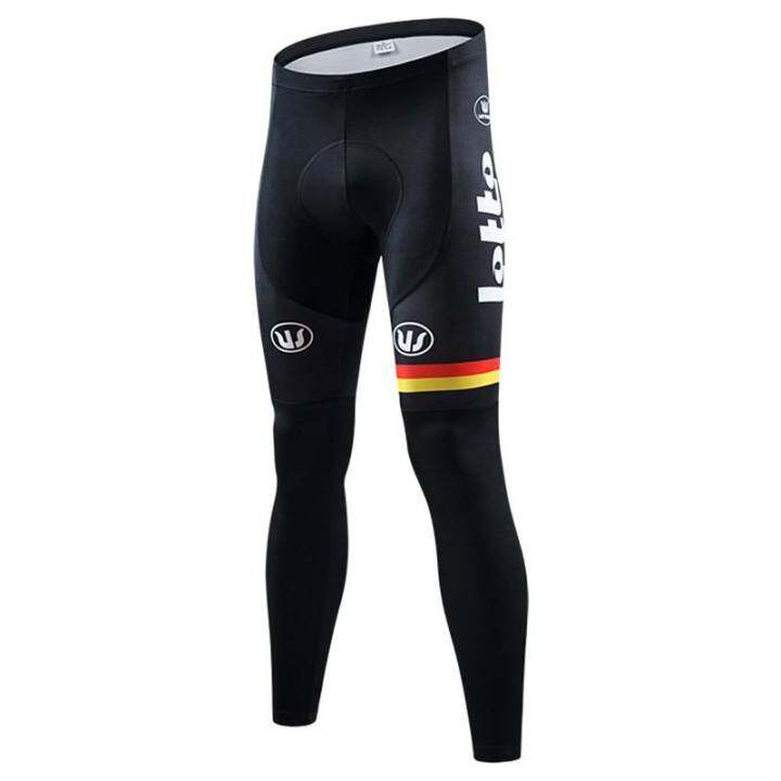 Men Bicycle 3D Gel Padded Pants Long Cycling Bike Tights Team Sports Racing Clothing