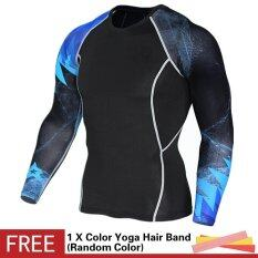 Men Bodybuilding Muscle Compression Tight Skin Shirt 3D Print Long Sleeve  Crossfit T-shirt Fitness 1f749131c6d58