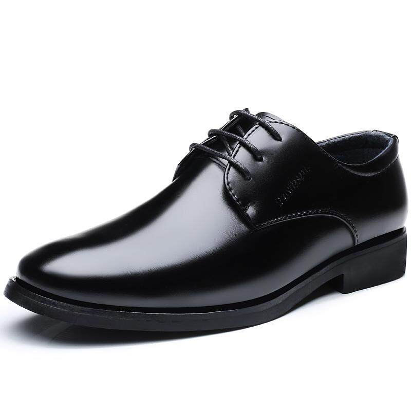 ff0ea9854a0 Men Business Dress Leather Shoes Flat European Casual Oxfords Lace Up Plus  Size .Ready Stock