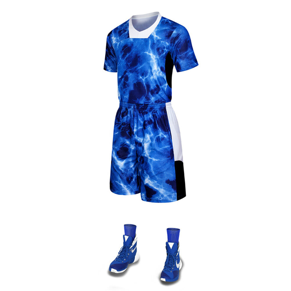 Men League Basketball Jerseys suit Uniforms short sleeved camouflage basketball Sports jerseys basketball Shorts DIY Customized - intl