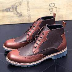 Men Leather Business Shoes Breathable Oxford Shoes