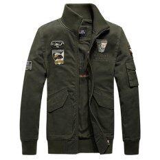Nam Quân Phục Áo Khoác Bomber Phi Công Không Quân Áo Cỡ lớn (Xanh Quân Đội)-quốc tế