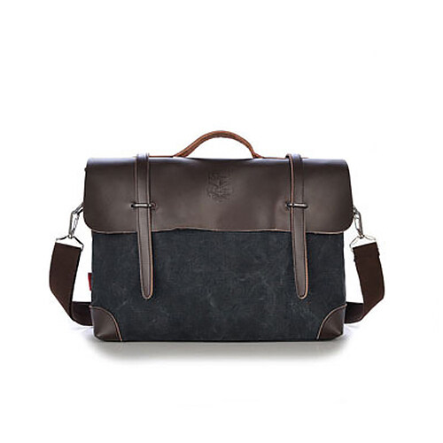 ed5c373d4396 Men Shoulder Messenger Bag Retro Briefcase Leisure Business Man Bag Black -  Intl