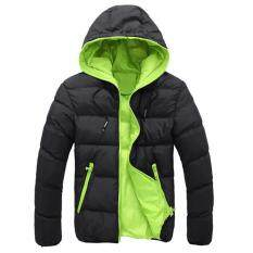 Men Slim Casual Warm Jacket Hooded Winter Thick Coat Parka Overcoat Hoodie