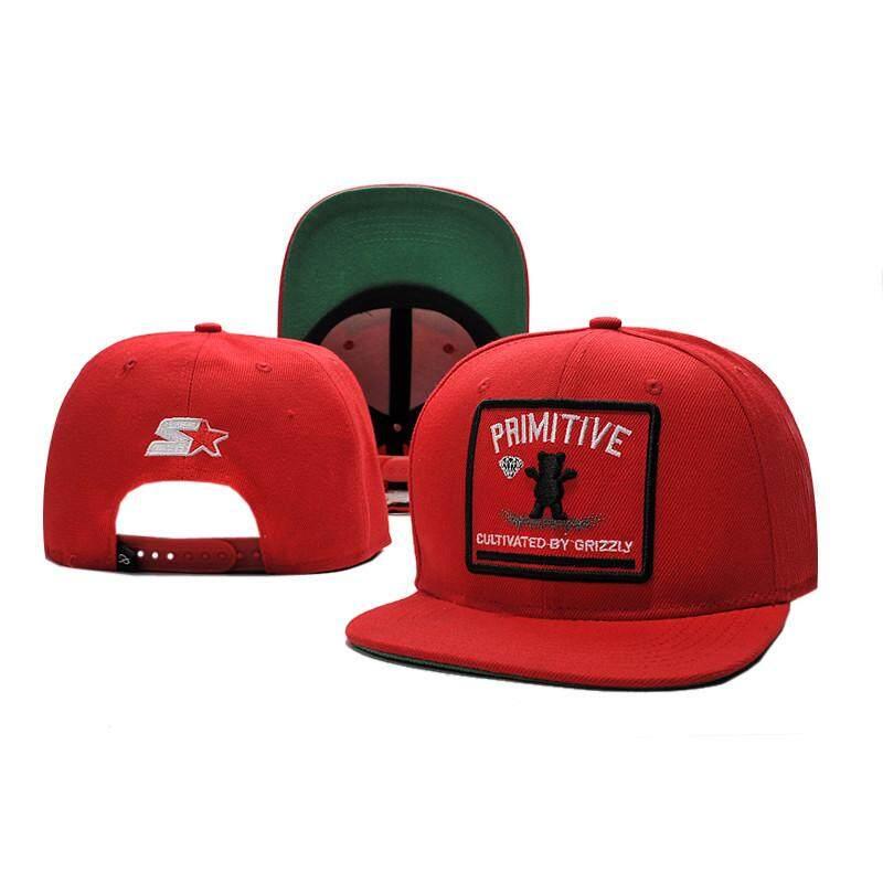 Hip Hop Topi Snapback Primitif X Grizzly X Topi Berlian Dapat Disesuaikan Topi Olahraga-Intl