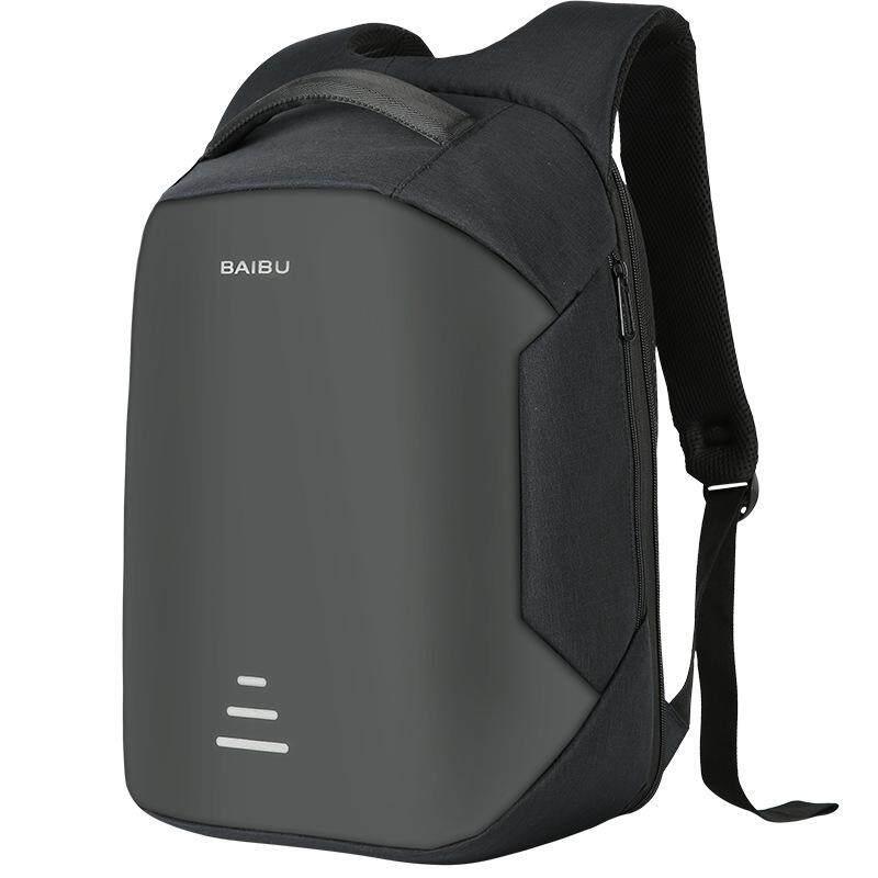 Sale Men Student Usb Charging Backpack 16 Inch Laptop Bag Anti Theft Waterproof Intl