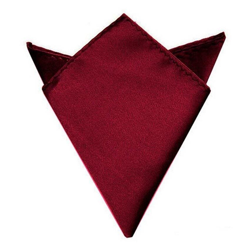 Men Suit Pocket Square Towel Handkerchief (Wine Red) Intl - intl