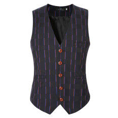 Men Suit Vest Slim Fit Vest Business Formal Vest Waistcoat(purple) By Chinascm.