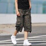 Mens Outdoor Capri Short Pants Multi Pocket Cargo Shorts