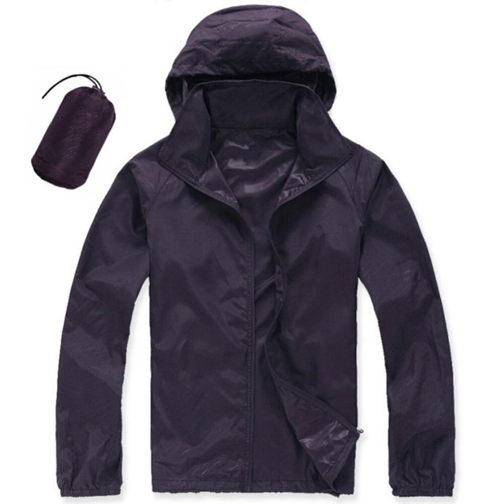 How To Get Men Women Quick Dry Hiking Jacket Waterproof Upf30 Sun Uv Protection Coat Outdoor Sport Skin Camping Clothing Color Deep Purple Size Xs Intl