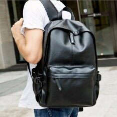 Men Women Vintage Leather Backpack Rucksack Laptop Satchel School Bag Black Hot Black By Freebang.