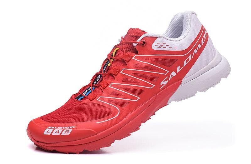 Men s Authentic Salomon Outdoor LAB Shoes Hiking Running sneakers Size 40-46  (Red  3eb6e4cd91