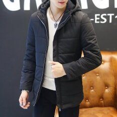 5a45318d4 【Free Shipping】Men's Casual Solid Winter Jacket Men Hooded Thick Warm  Padded Cotton Coat
