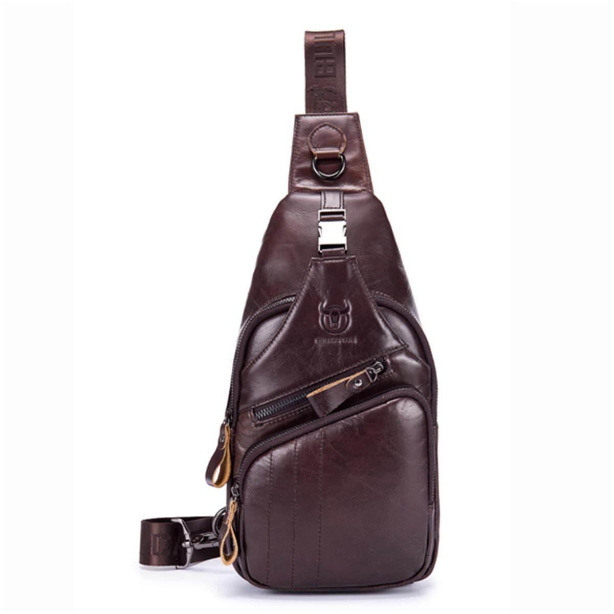 Leather Sling Bag for Men Vintage Chest Crossbody Bag For Men